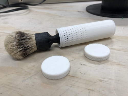 3D Print – a Parametric Brush Travel Tube