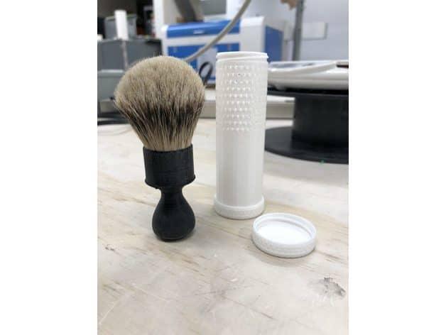 Travel Shaving Brush Tube