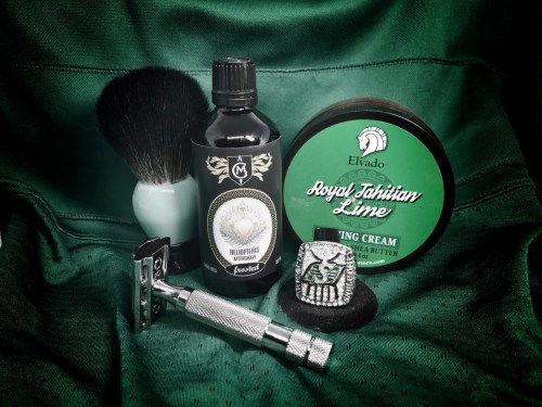 SOTD – September 8, 2018 #CanadianShaveWeek #GreenIsTheColour